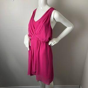 Le chateau Draped Chiffon Dress Racer Back Pink